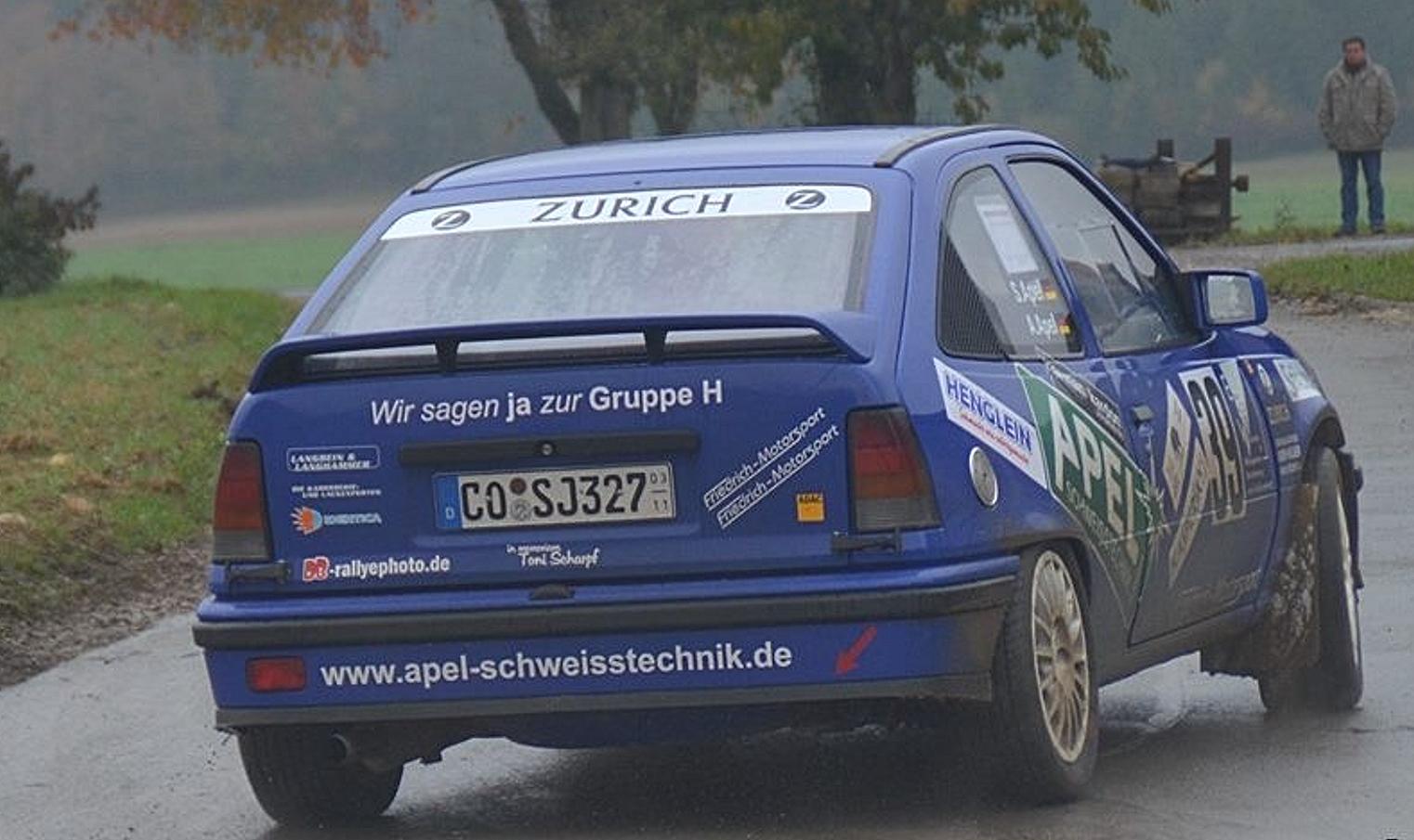 Zeigten beim Rallye-Saisonabschluss vielen ihrer Konkurrenten das Heck der Opel Kadett 16V: André und Sandro Apel