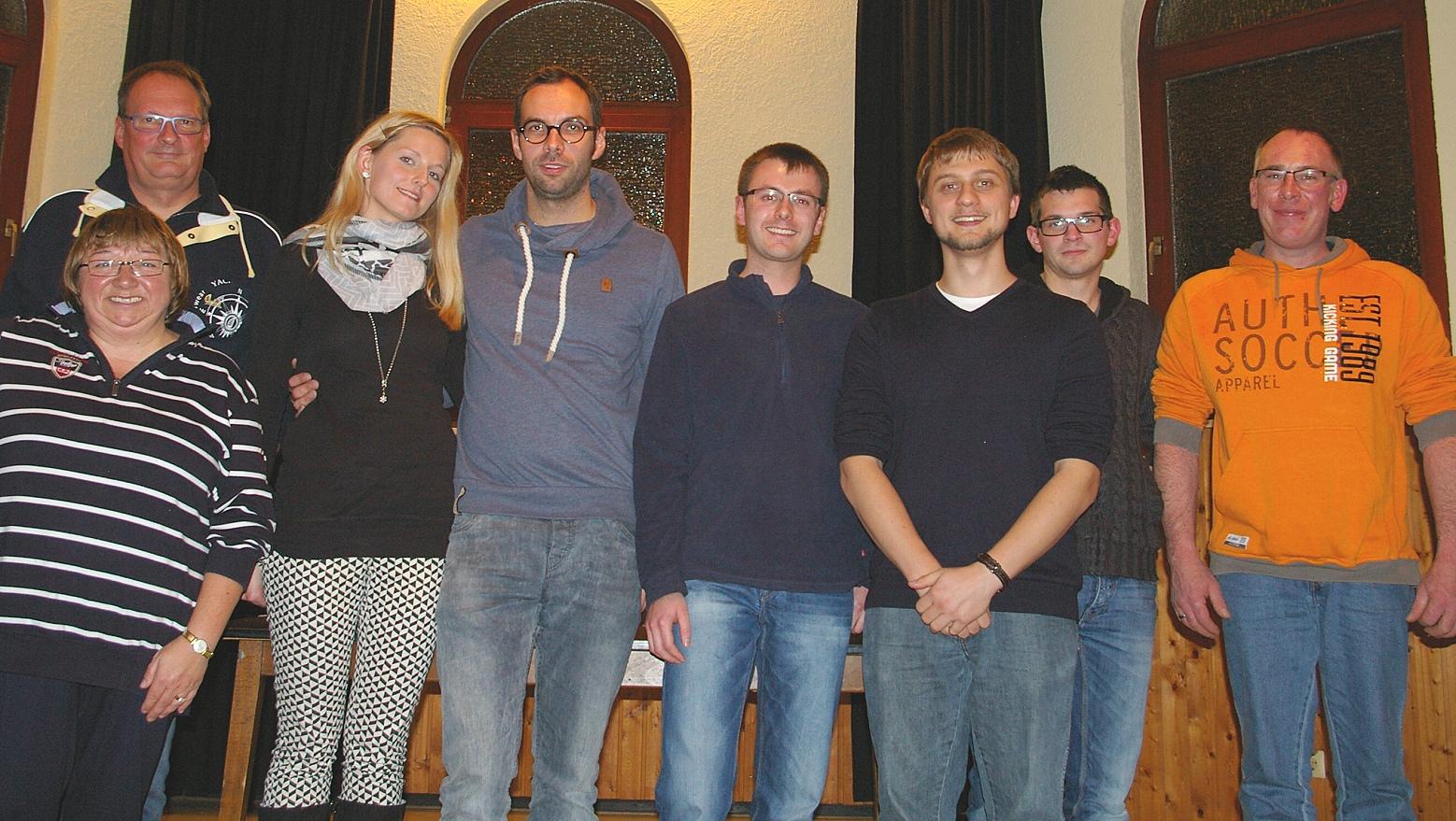 Die Coburger Nikoausfahrer (v. li.): Jochen und Inge Autsch, Franziska Arnold, Sebastian Sonnauer, Stefan Rüger, David Kessel, Bernd Grell und Markus Furkert